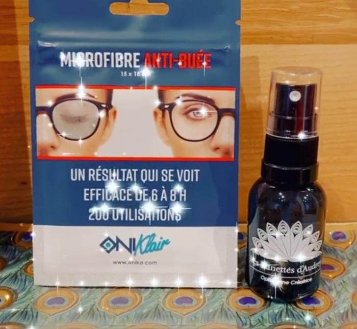 Nouveau : lingettes microfibre anti buée - efficaces 6 à 8h